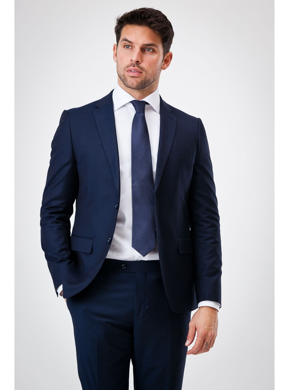 Navy Blue Spring Suit