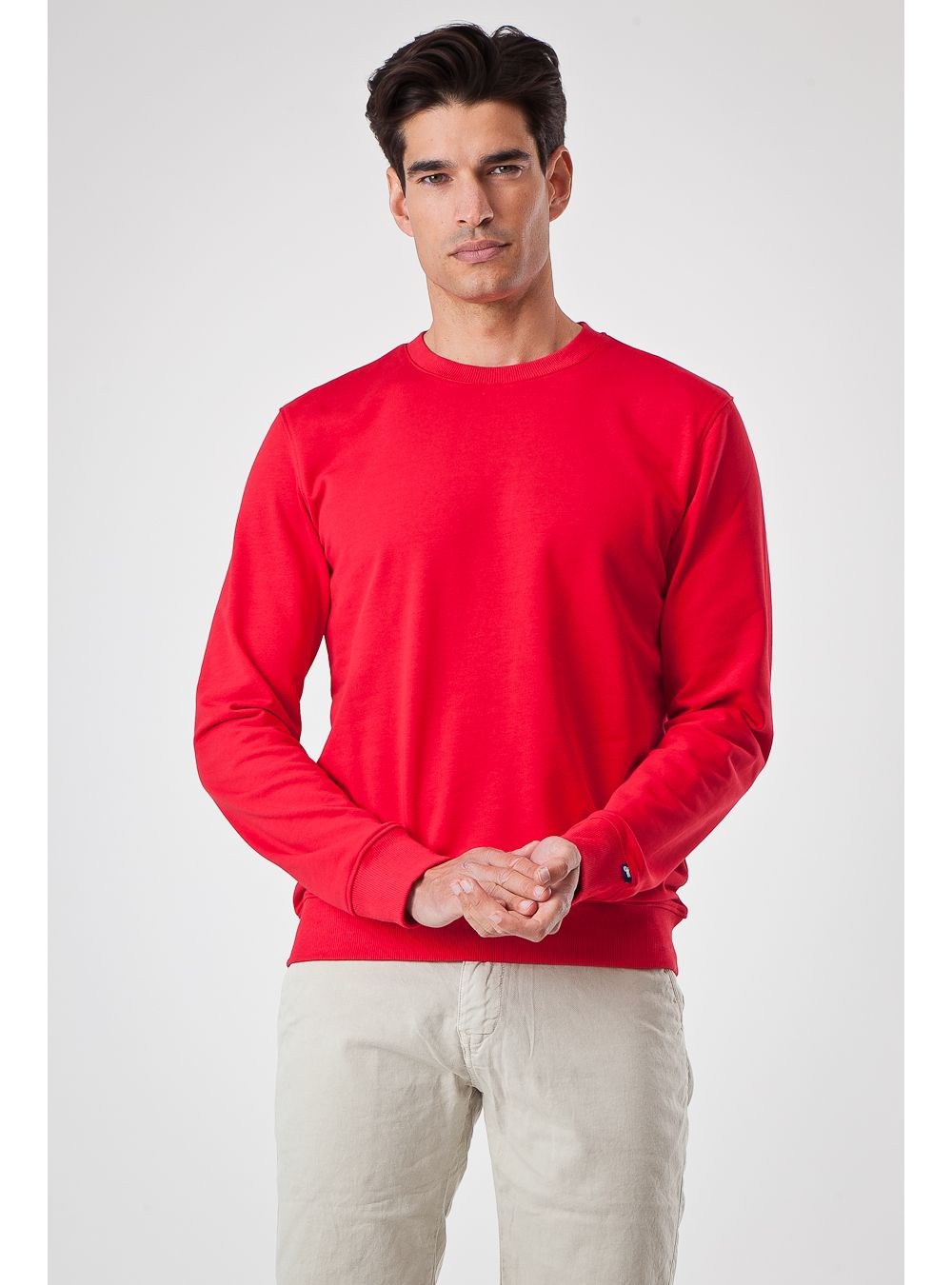 Coral Cotton Sweater